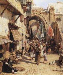 164-Scene-de-rue-de-Jaffa-oeuvre-de-Daniel-Trammer-2.png