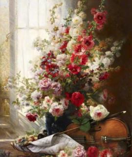 201-Le-Bouquet-et-violon-oeuvre-originale-de-Daniel-Trammer-2.png