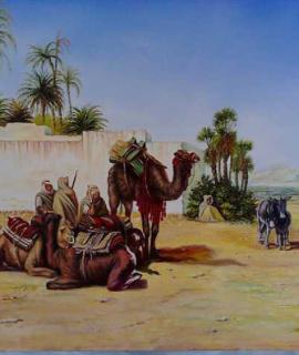 356-Paysage-oriental-Oasis-50×60-cm-Oeuvre-unique-2.png